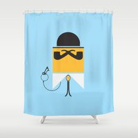 persona Shower Curtains featuring Persona Series 002 by Sobriquet Studio
