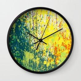 splash paint Wall Clock