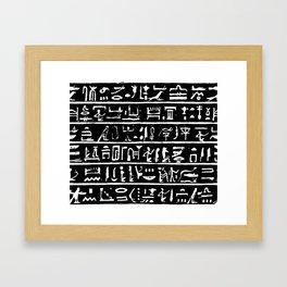 Egyptian Hieroglyphics // Black Framed Art Print