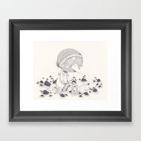 Géant Framed Art Print