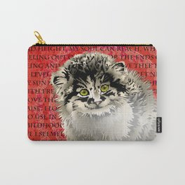 Valentine Kitten Carry-All Pouch