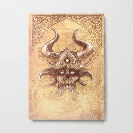 Demon Head Metal Print
