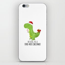 Wishing You A Dino-Mite Christmas iPhone Skin