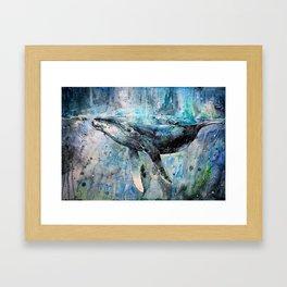 Whale Art Framed Art Print
