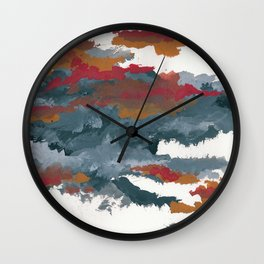 clouds_august Wall Clock