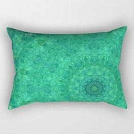 Green Austrian Lake Rectangular Pillow