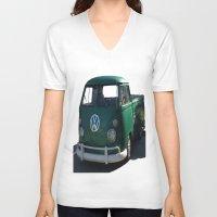 vw V-neck T-shirts featuring VW GRUNGE by Joedunnz