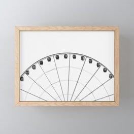 PHOTO OF GREY AND BLACK FERRIS WHEEL DURING DAYTIME Framed Mini Art Print