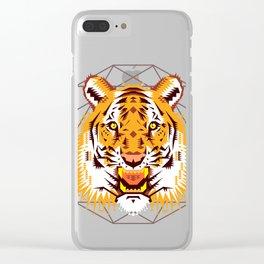 Geometric Tiger Clear iPhone Case