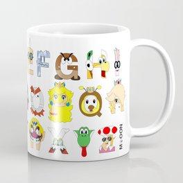 Super Mario Alphabet Coffee Mug