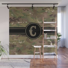 Camouflage Monogram: Letter C Wall Mural