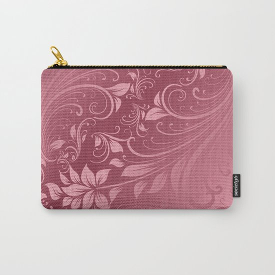 Rose quartz swirls leaves Carry-All Pouch