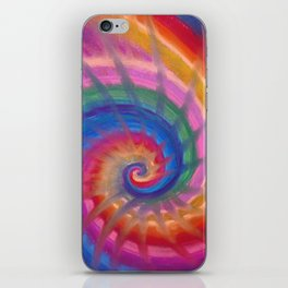 Spring into action with colour spirals iPhone Skin