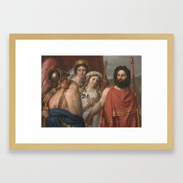Jacques-Louis David , 1748 –  1825, THE ANGER OF ACHILLES Framed Art Print