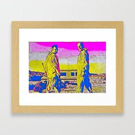 It Is He Who Knocks Framed Art Print