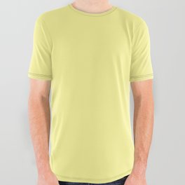 Simply Pastel Yellow All Over Graphic Tee