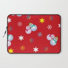 Snowflakes & Pair Snowman_D Laptop Sleeve