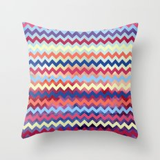 Watercolor Chevron II Throw Pillow