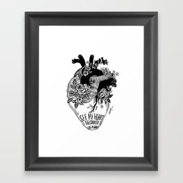 see my heart Framed Art Print