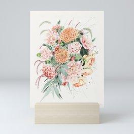Fall Dahlia Bouquet Mini Art Print