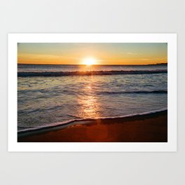 Sunset on the Big Blue Art Print