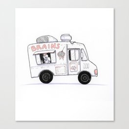 Zombie Food Truck Canvas Print
