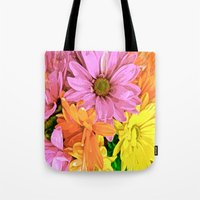 daisy Tote Bags featuring Daisy by Saundra Myles