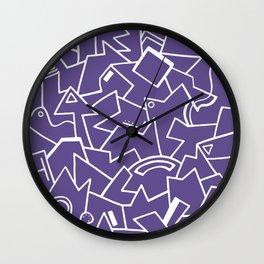 Ultra Violet Instinct Wall Clock