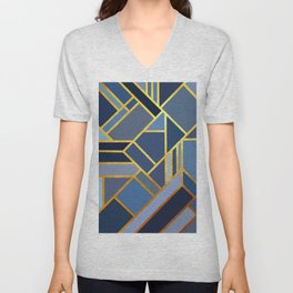 Art Deco Drops Of Jupiter Unisex V-Neck