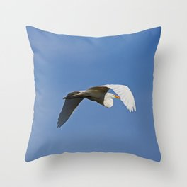 Against the Blue Throw Pillow