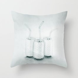 Les Liqueurs Throw Pillow