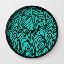 pattern with black shapes Wall Clock