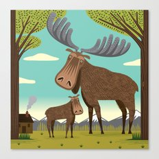 The Magnificent Moose Canvas Print