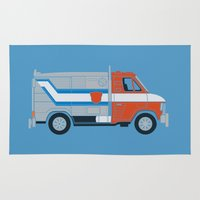 van Area & Throw Rugs featuring Optimus Van by Brandon Ortwein