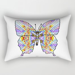 Mosaic Butterfly 1 Rectangular Pillow