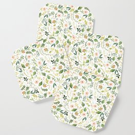 Botanical Spring Flowers Coaster