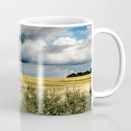 Blue Sky - Storm over field in England Coffee Mug