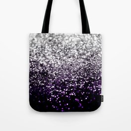 Dark Night Purple Black Silver Glitter #1 #shiny #decor #art #society6 Tote Bag