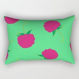 Raspberry Illutration Art Print Rectangular Pillow