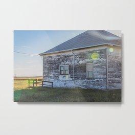 Old Building, Chaseley, North Dakota 2 Metal Print