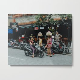 Locals in Ubud, Bali   Travel photography   Indonesia wall art Metal Print