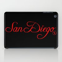 san diego iPad Cases featuring San Diego by No Zonies