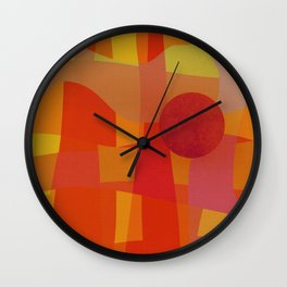 Red Hot Sun Wall Clock