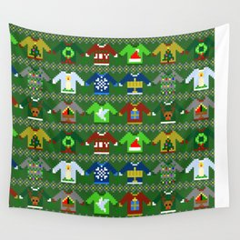 The Ugly 'Ugly Christmas Sweaters' Sweater Design Wall Tapestry