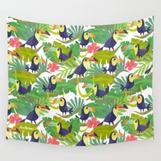 Toucan Paradise Pattern Wall Tapestry