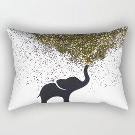 elephant w/ glitter Rectangular Pillow