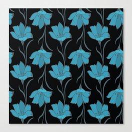 Seamless Flower  Buttercup  Pattern. Summer background garden Canvas Print