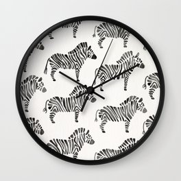 Zebras – Black & White Palette Wall Clock