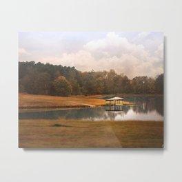 Water Gazebo Metal Print