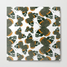 Red admiral butterfly  pattern Metal Print